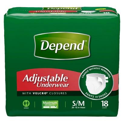 Depend® Adjustable Underwear Maximum Absorbency - S/M (54 Count)