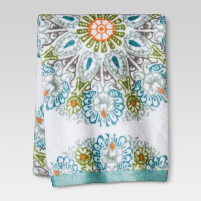 Threshold™ Medallion Hand Towel - Blue