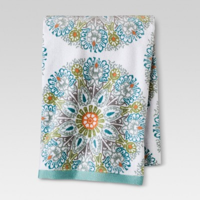 Threshold™ Medallion Bath Towel - Blue