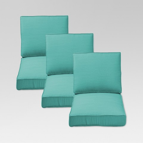 Threshold™ Belvedere 6-Piece Outdoor Replacement Patio Sofa Cushion Set