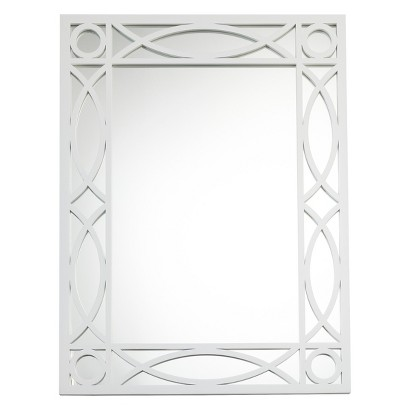 Threshold™ Patterned Wall Mirror - White
