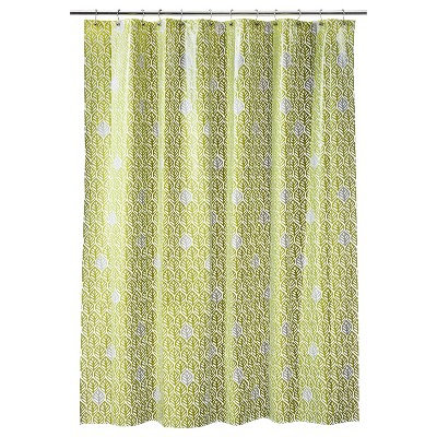 Leaf Shower Curtain - Green - Room Essentials™