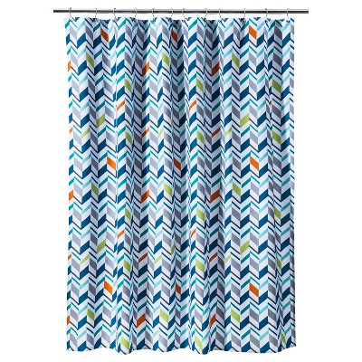 SHOWER CURTAIN RE CHEVRON MULTI