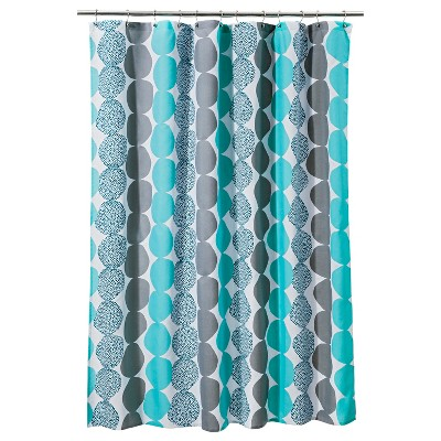 Circle  Shower Curtain - Turquoise/Gray - Room Essentials™