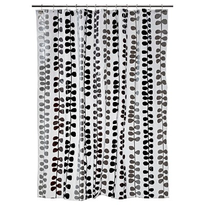 Room Essentials® Vinel Shower Curtain - Black/Gray