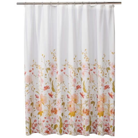 threshold wild flower shower curtain pink product details page