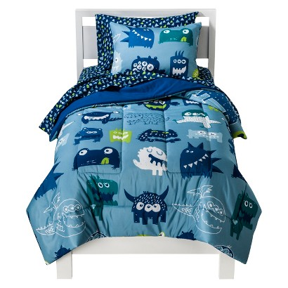 Circo Monster Party Bed Set - Blue