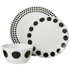 Room Essentials™ Round 12 piece Melamine Dinnerware Set - Black Dots
