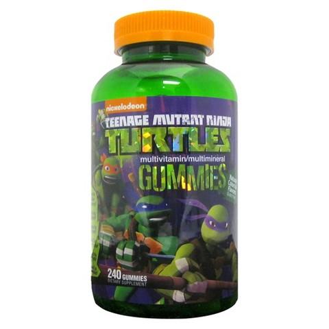 Teenage Mutant Ninja Turtles Multivitamin Gummies - 240 Count