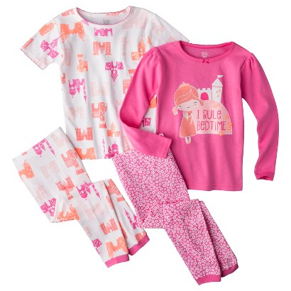 Just One You™ by Carter's® Infant Toddler Girls' 4-Piece Short-Sleeve and Long-Sleeve Princess