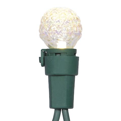 50ct LED Faceted G15 String Light Set