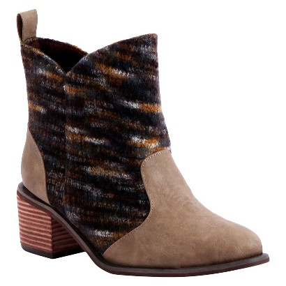 Women's MUK LUKS® Chloe Short Cowboy Boot - Brown