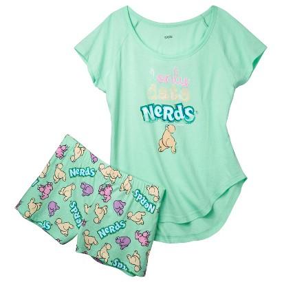 Nerds® Juniors' Pajama Set - Mint