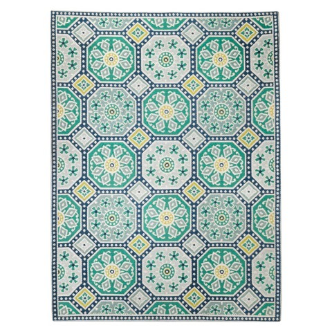 Threshold™ Indoor Outdoor Flatweave Mosaic Rug Tar
