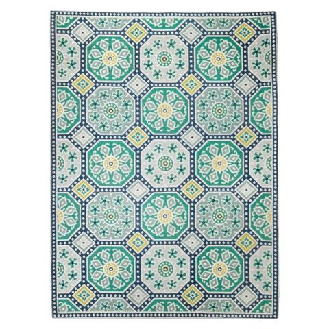 Threshold indoor outdoor flatweave mosaic rug target for Outdoor area rugs target