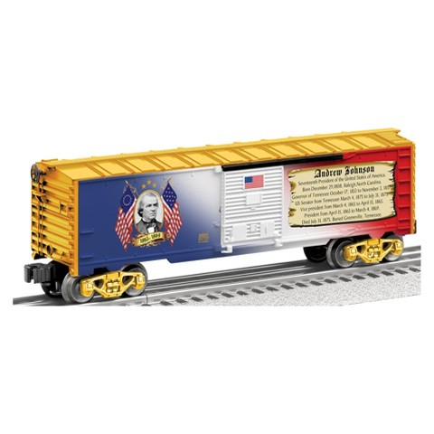 "Lionel Trains Made in the USA ""Presidential Series"" Boxcar Andrew Johnson"