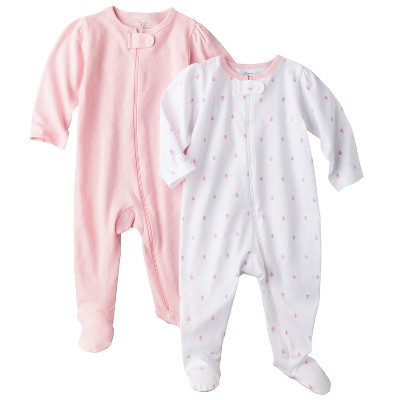 PRECIOUS FIRSTS™Made by Carters® Newborn Girls' 2 Pack Sleep N' Play- Pink 3 M