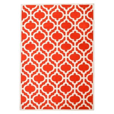 Threshold™ Indoor/Outdoor Flatweave Fretwork Area Rug - Red (7'x10')