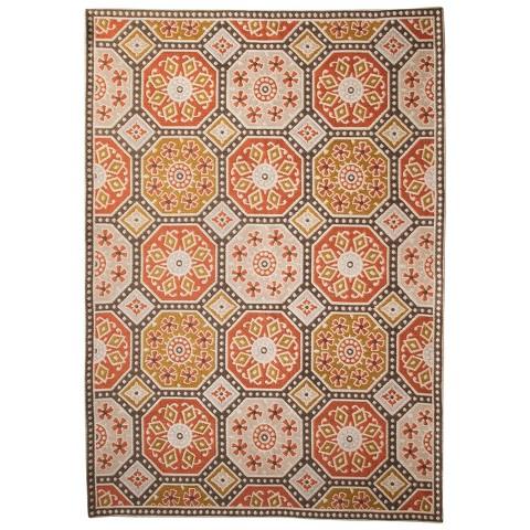 threshold indoor outdoor flatweave mosaic rug target