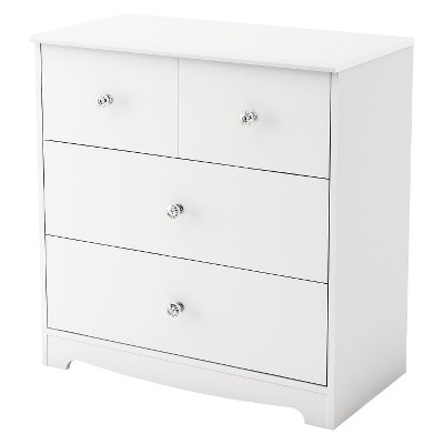 South Shore Little Jewel 3-Drawer Chest - Pure White