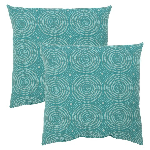 Threshold™ 2-Piece Square Outdoor Toss Pillow Set