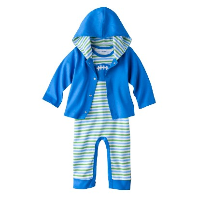 Gerber® Newborn Boys' 2 Piece Football Coverall and Jacket Set - Blue