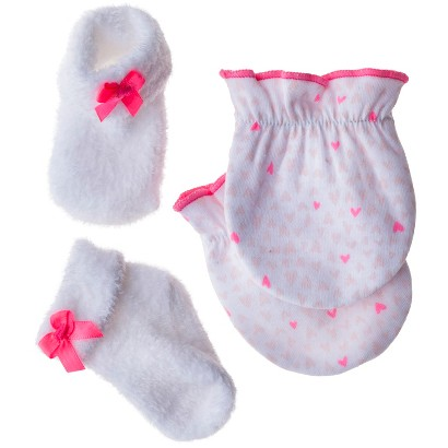Just One You™Made by Carter's® Newborn Girls' Bow Keepsake Set - White/Pink