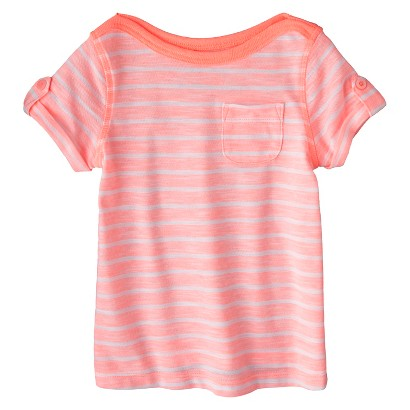 Cherokee® Infant Toddler Girls' Striped Short Sleeve Tee