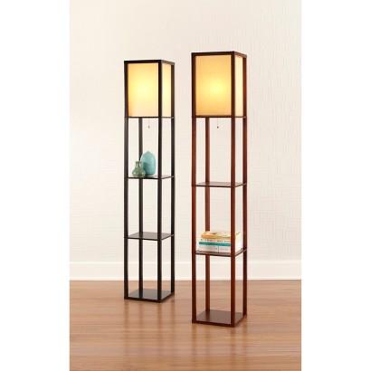 Threshold™ Floor Shelf Lamp with Ivory Shade