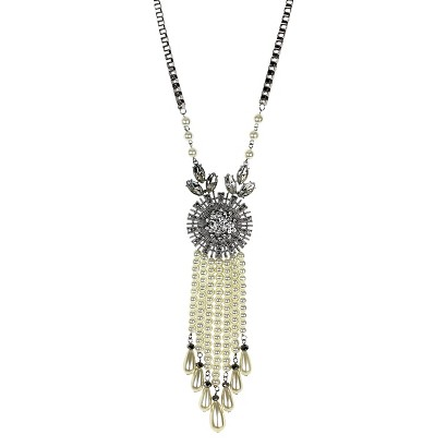 "Women's Long Necklace - Silver/Silver (19"")"