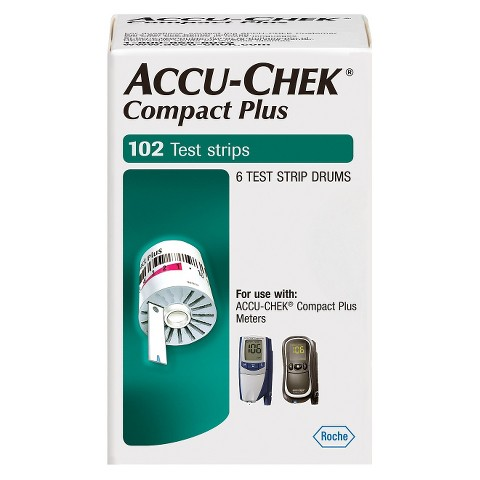 ACCU-CHEK® Compact Plus Blood Glucose Test Strips - 102 Count