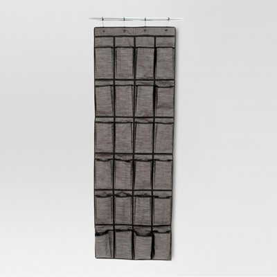 24-Pocket Over-the-Door Hanging Shoe Organizer - Gray Birch - Threshold™