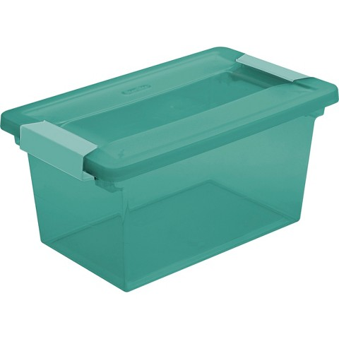 Storage Tubs And Totes Plastic Room Essentials Blue