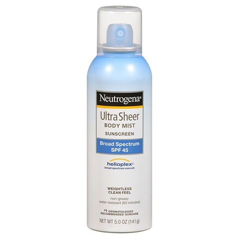 Neutrogena Ultra Sheer Body Mist Sunscreen SPF45 - 5 oz