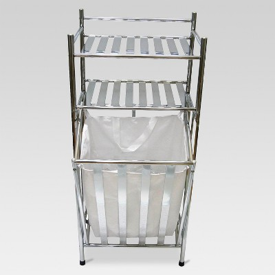 Hamper Chrome/Linen - Threshold™