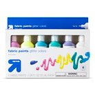 up & up™ Glitter Fabric Paint 6ct