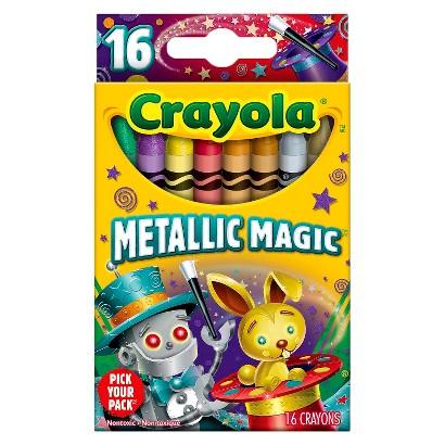 Crayola 16ct Pick Your Pack Metallic Magic Crayons