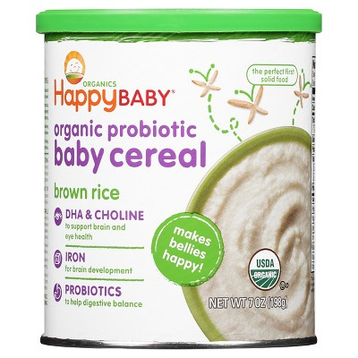 Happy Bellies Organic Brown Rice Cereal - 7 oz