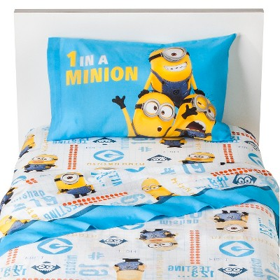 Universal Studios Despicable Me Minions Sheet Set - Multicolor (Twin)
