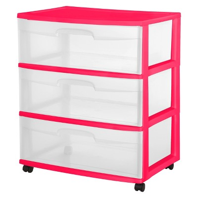 Storage Carts Plastic Room Essentials Pink