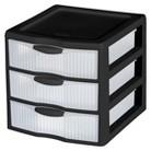 Tabletop Storage Drawer Units Plastic Room Essentials Black