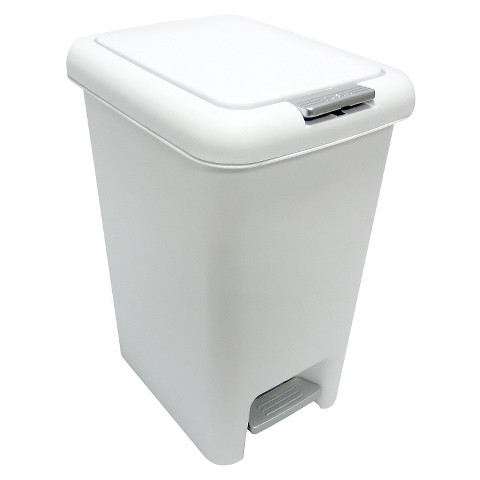 bathroom wastebasket with lid wastebasket step lid