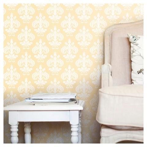 Devine Color Chantilly Peel & Stick Wallpaper Tar