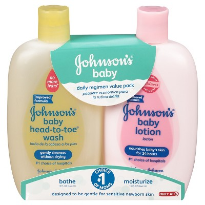 Johnson's Baby Body Wash & Lotion Value Pack