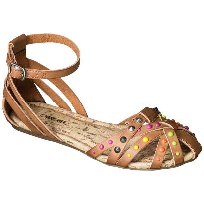 Girl's Cherokee® Fredrika Studded Huarache Sandals - Tan