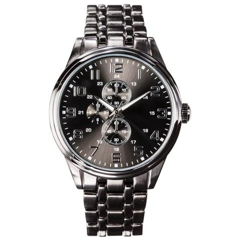 Men's Black Dial Wristwatch