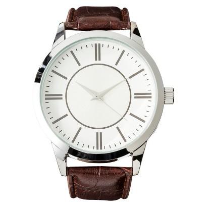 Men's Strap Watch - Brown