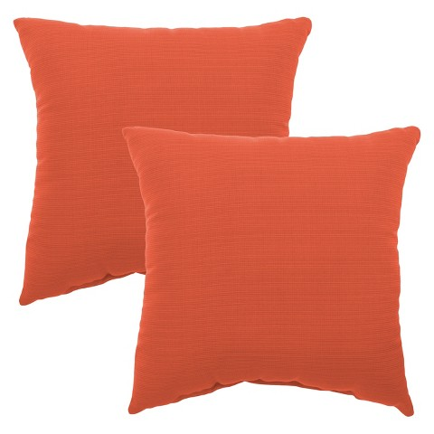 2 Piece Square Outdoor Toss Pillow Set Threshold Target