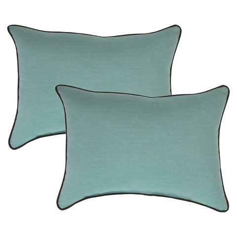 Smith & Hawken™ 2-Piece Outdoor Lumbar Pillow Set