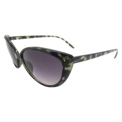 Women's Cateye Sunglasses - Grey/Tortoise
